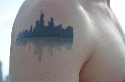 RED REIDING HOOD: New York City NYC skyline boston tattoo inspiration ink shoulder placement