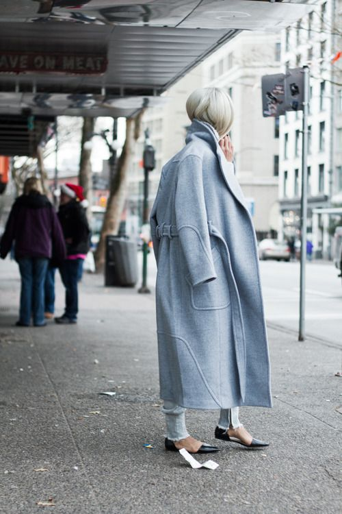 RED REIDING HOOD: Vanessa The Haute Pursuit baby blue woolen trench coat outfit fashion blogger streetstyle