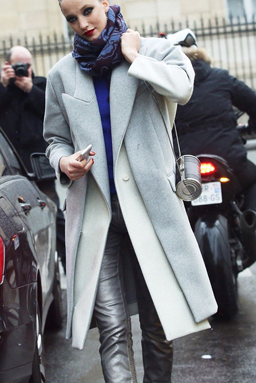 RED REIDING HOOD: Fashion blogger outfit inspiration navy blue trench coat leather pants pinterest streetstyle
