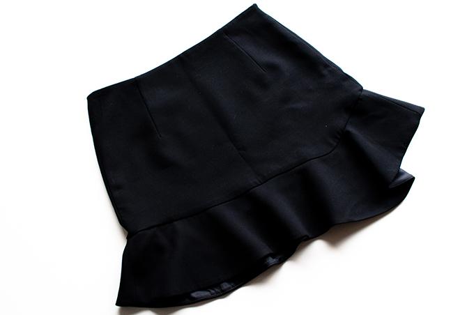 RED REIDING HOOD: Zara asymmetrical skirt basic clearance final sale purchase buy
