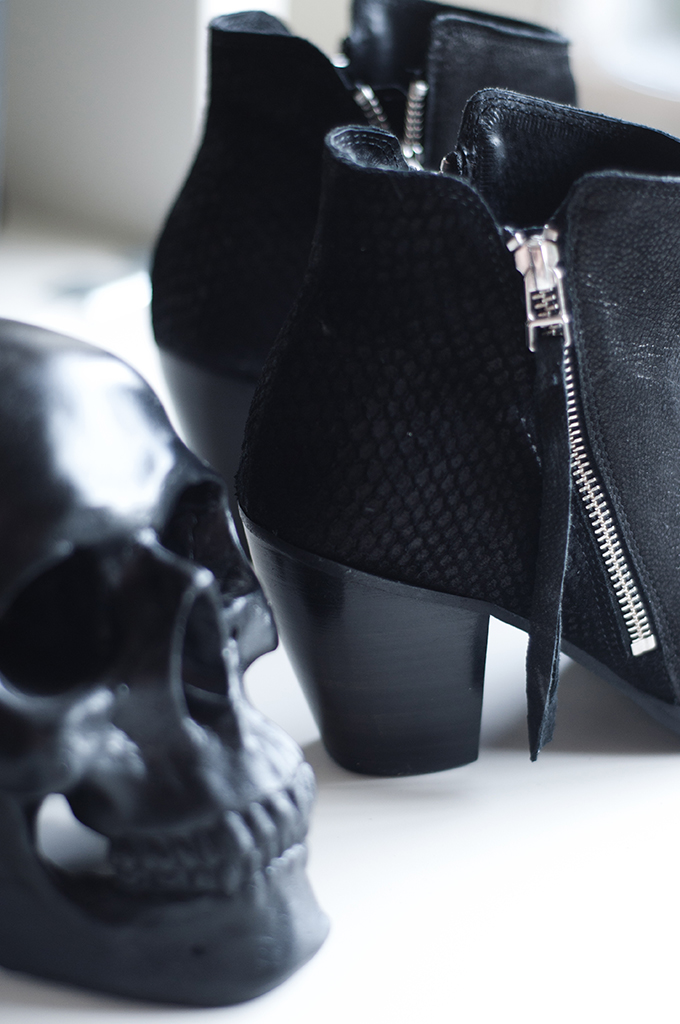 RED REIDING HOOD: Fashion blogger Acne pistol boots details KO knock off sacha shoes black leather booties