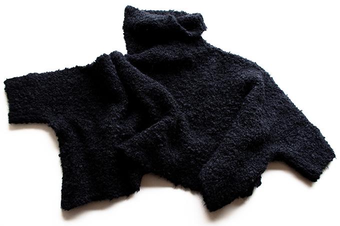 RED REIDING HOOD: Black fluffy turtleneck sweater knitwear Zara clearance sale purchase buy