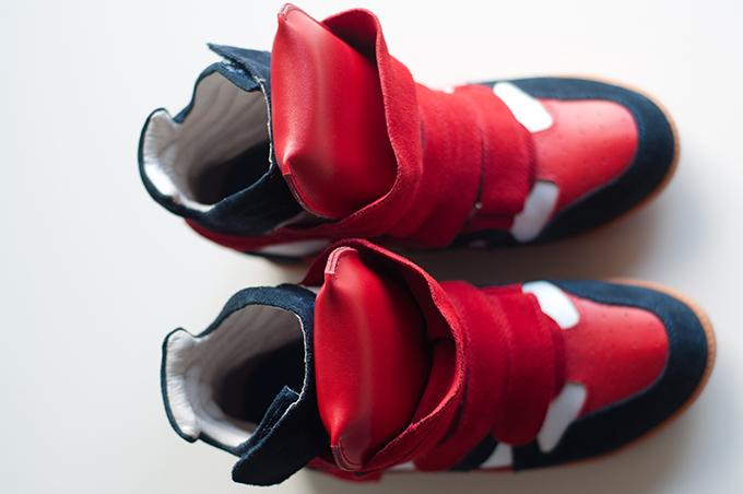 RED REIDING HOOD: Fashion blogger Isabel Marant shoes beckett wedge sneakers KO knock off ebay