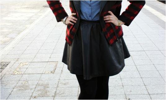 RED REIDING HOOD: Cathy Love Your Ego Reader's Spotlight favorite item leather skirt