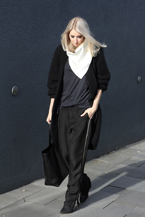 RED REIDING HOOD: Fashion blogger MyDubio outfit nowhere pants slouchy pants wide trousers inspiration streetstyle