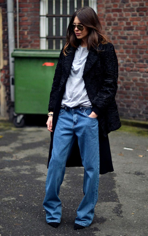 RED REIDING HOOD: Streetstyle baggy jeans fashion blogger slouchy pants wide denim inspiration