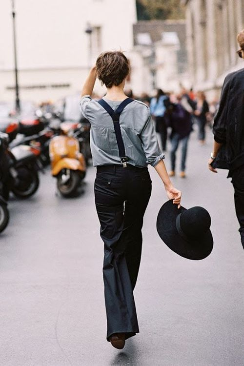 RED REIDING HOOD: Slouchy wide suit trousers streetstyle pinterest fashion