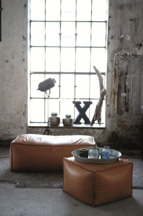 RED REIDING HOOD: Home deco brown leather pouch coffee table inspiration pinterest interior