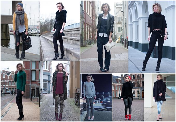 RED REIDING HOOD: February recap outfits summary fashion blogger style streetstyle