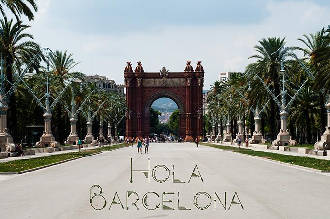 RED REIDING HOOD: Hola Barcelona postcard arc de triomf parc de la ciutadella view palm trees