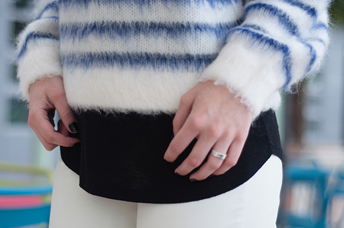 RED REIDING HOOD: Fashion blogger wearing fluffy mohair jumper H&M Trend layering streetstyle outfit