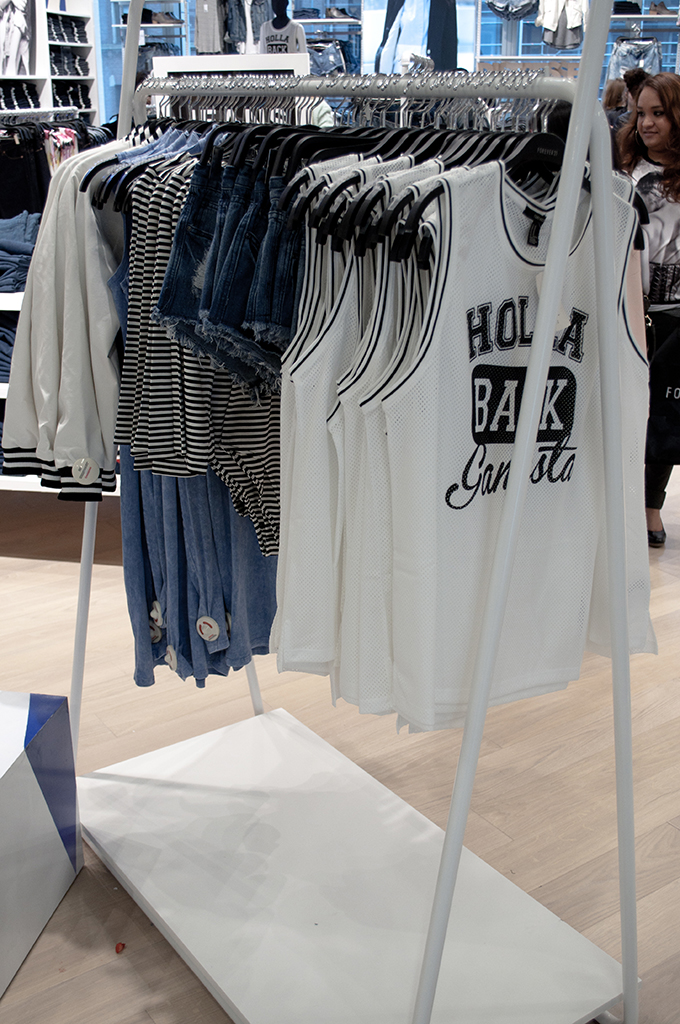 RED REIDING HOOD: Forever 21 Amsterdam VIP opening event mesh top Hola Back Gangsta text