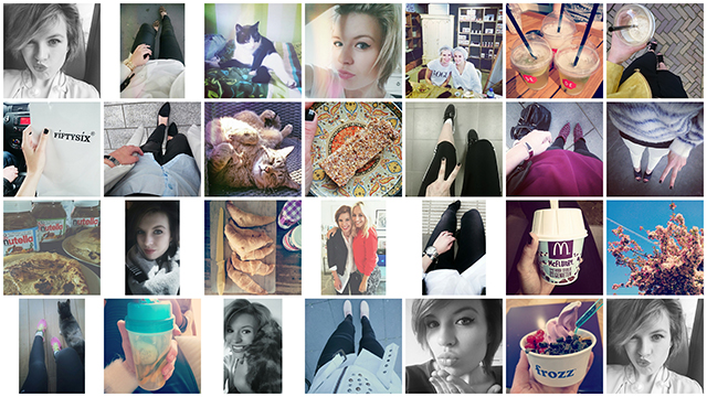 RED REIDING HOOD: Fashion blogger instagram feed april
