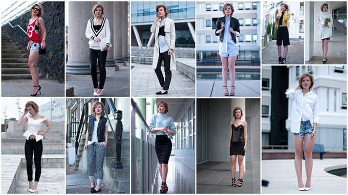 RED REIDING HOOD: Fashion blogger may 2014 outfits recap streetstyle