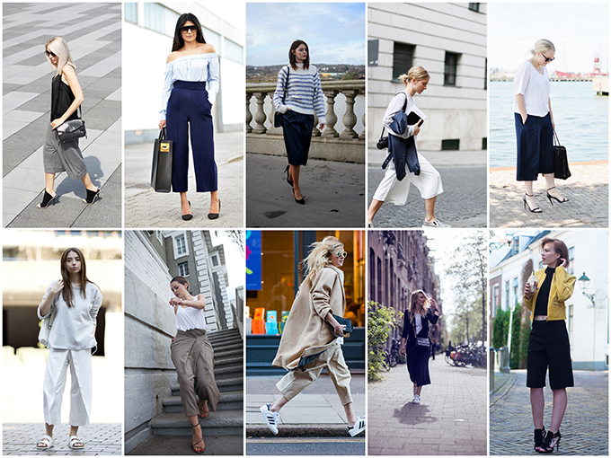 RED REIDING HOOD: Fashion bloggers wearing culottes streetstyle
