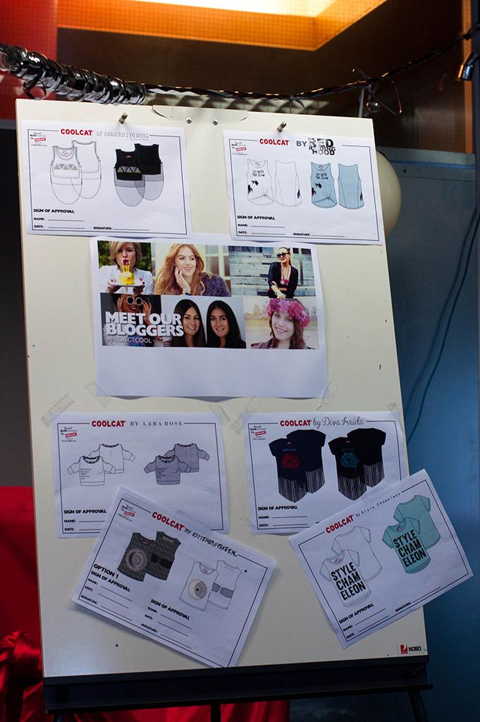 RED REIDING HOOD: Bloggers ontwerpen T-shirts voor CoolCat schetsen designer sketch kittehscupcakes diva iraida from hats to heels lara rose style style chameleon