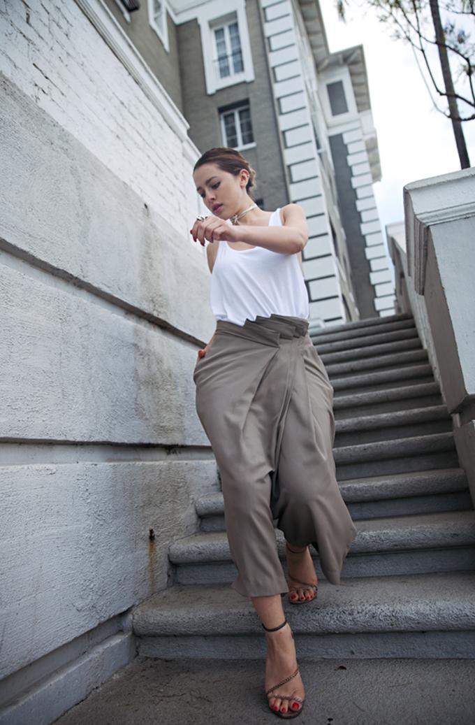 RED REIDING HOOD: Fashion blogger Karla's Closet wearing Alexander Wang Culottes streetstyle