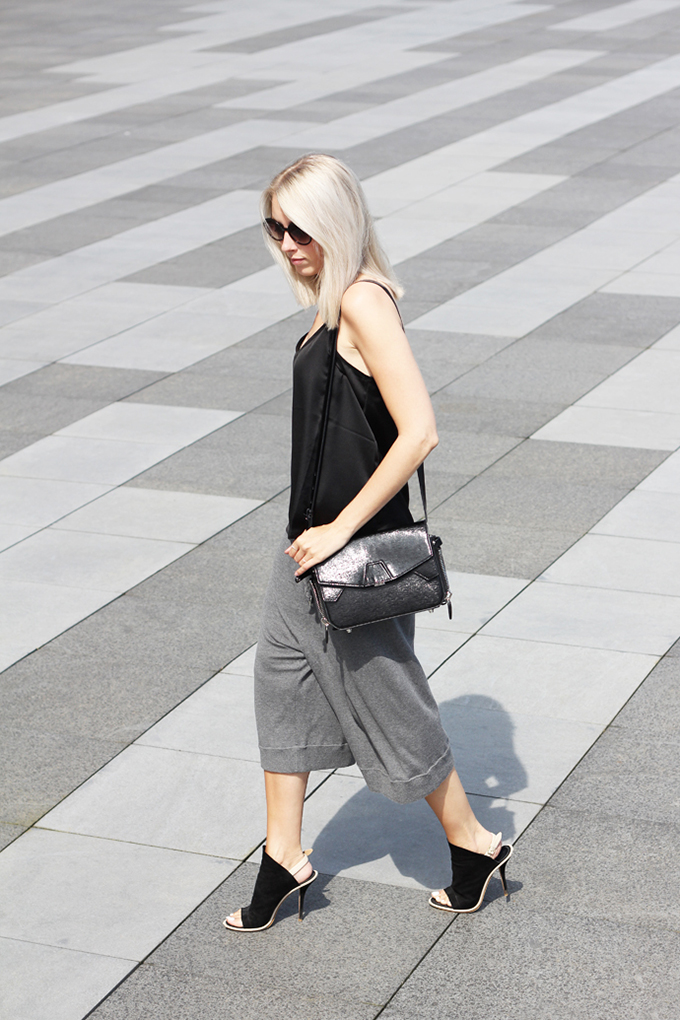 RED REIDING HOOD: Fashion blogger My Dubio wearing Acne Culottes streetstyle model off duty look minimalistic outfit