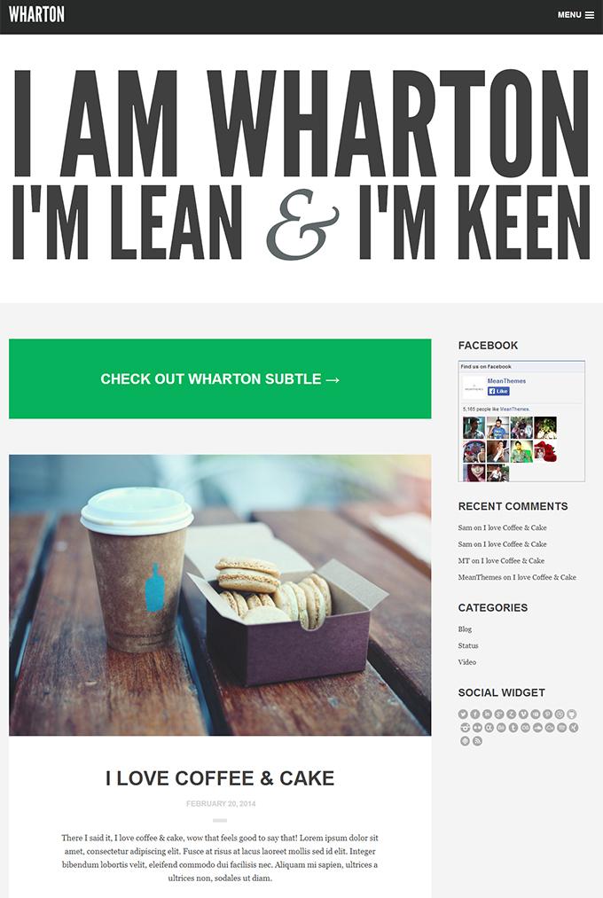Wharton   A Big   Bold Blog Theme