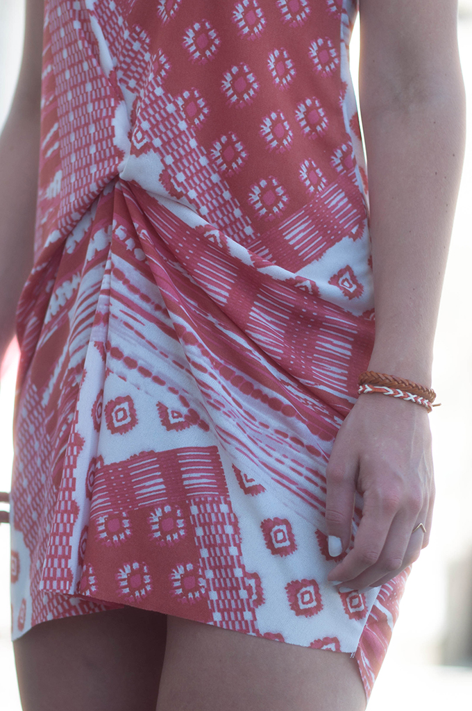 RED REIDING HOOD: Isabel Marant red dress Zara streetstyle festival look friendship bracelets outfit details