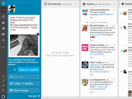 RED REIDING HOOD: Fashion blogger schedule Twitter post tweetdeck plan tweets ahead