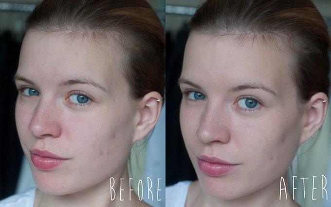 RED REIDING HOOD: Ervaring beauty blogger review Tea Tree Flawless BB Cream The Body Shop before after voor na