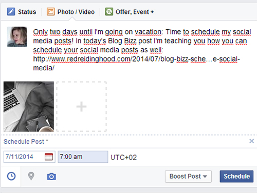 RED REIDING HOOD: Fashion blogger how to schedule facebook post plan social media posts