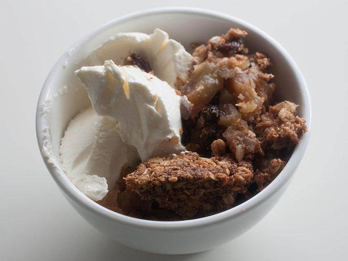 RED REIDING HOOD: Gezond ontbijt recept apple crumble recipe healthy breakfast greek yoghurt