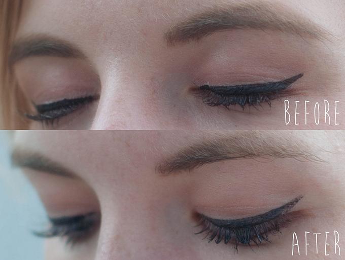 RED REIDING HOOD: Beauty blogger waterproof make up test swim proof beauty look liquid eyeliner mascara foundation brows before after