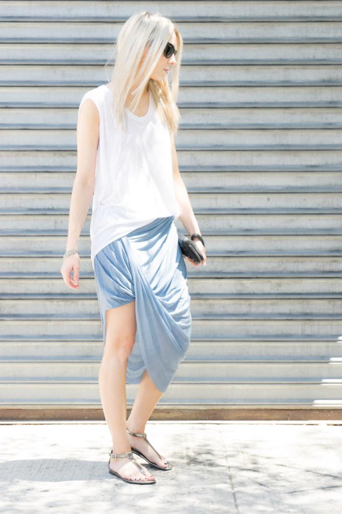 RED REIDING HOOD: top 5 fashion bloggers figtny draped Zara skirt streetstyle