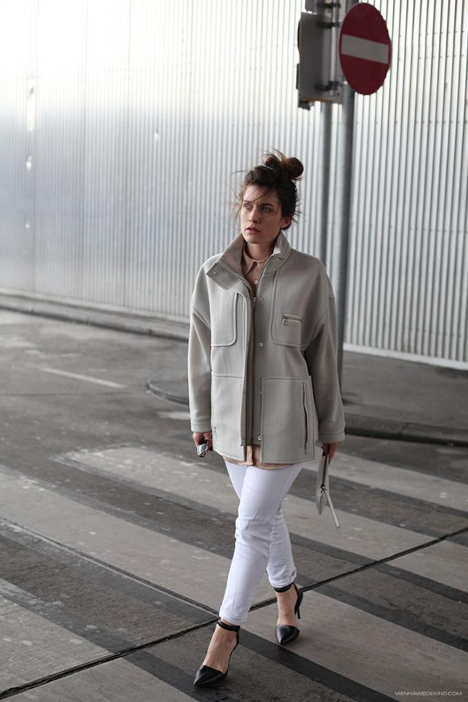 RED REIDING HOOD: Fashion blogger Vienna Wedekind cream coat