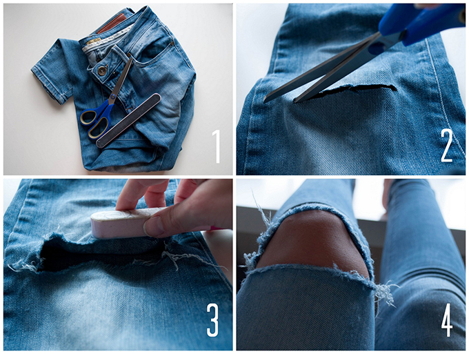 Tutorial Ripped Jeans - Xtellar Jeans