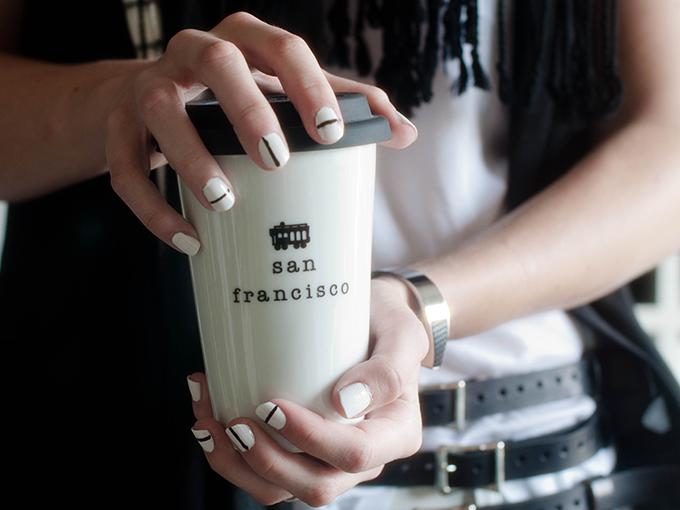 RED REIDING HOOD: Beauty blogger nails Tibi spring '14 catwalk minimalistic manicure stripes