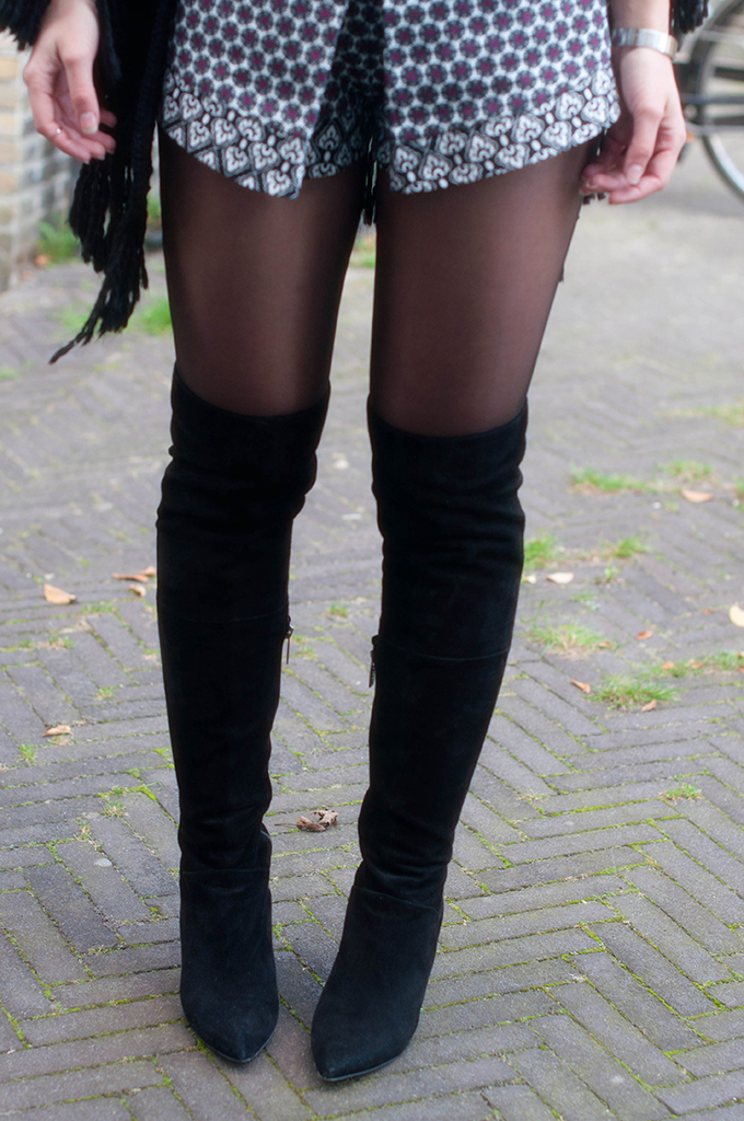 RED REIDING HOOD: Fashion blogger wearing suede over the knee boots suede vespa thigh high boots outfit details