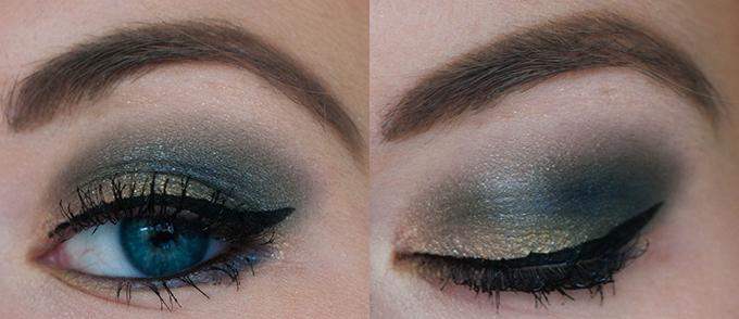 RED REIDING HOOD: Beauty blogger selfie make up look eyeshadow gold blue green bourjous catrice maybelline