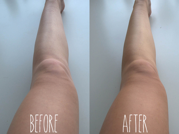 RED REIDING HOOD: Beauty blogger ervaring Vita Liberata pHenomenal Tan Mousse review self-tan before after legs
