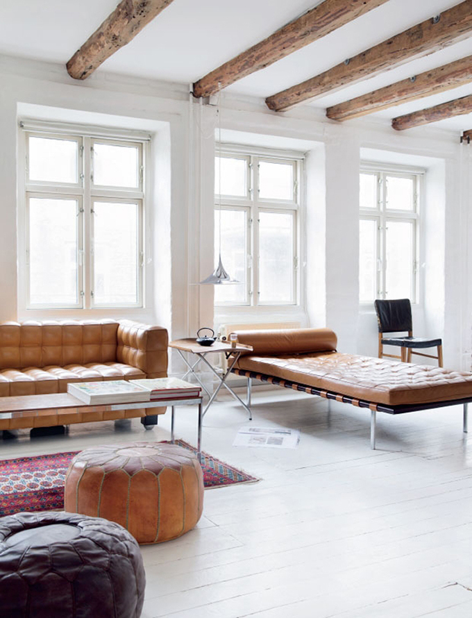 RED REIDING HOOD: Home inspiration interior idea pinterest brown leather chesterfield chaise-longue