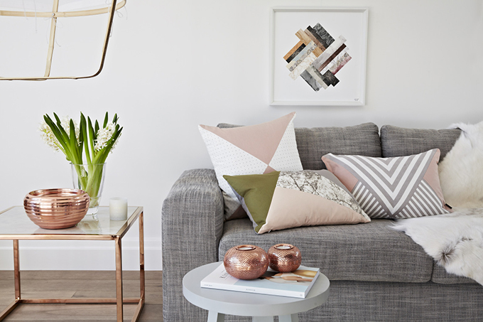 RED REIDING HOOD: Home inspiration interior idea pinterest rose gold details