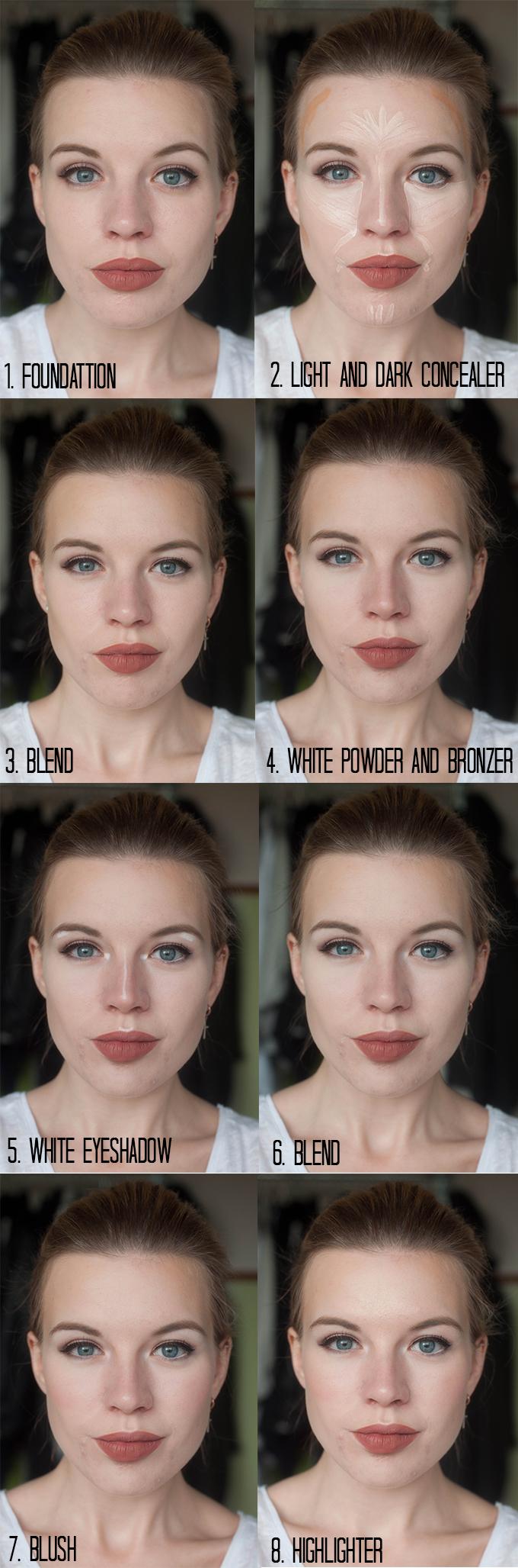 RED REIDING HOOD: Blogger beauty hack concealer contouring tutorial contour like a pro MUA kim kardashian make up instructions how to