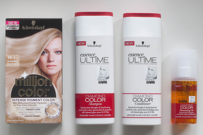 RED REIDING HOOD: Schwarzkopf million color 10-1 stralend blond review haarverf dye radiant blonde essence ultime diamond color shampoo conditioner illuminating oil