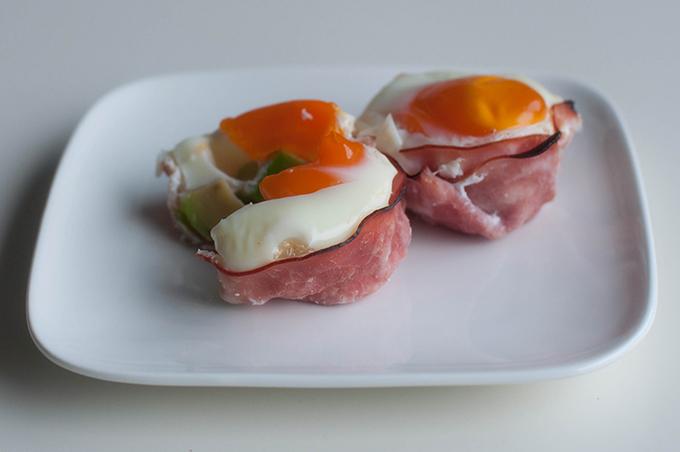 RED REIDING HOOD: Healthy fitness food recipe clean eating recept de voedselzandloper ham egg avocado cupcakes lean snack breakfast