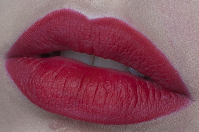 RED REIDING HOOD: Beauty blogger review MAC cherry lip pencil swatch on the lips ultimate best red lipstick