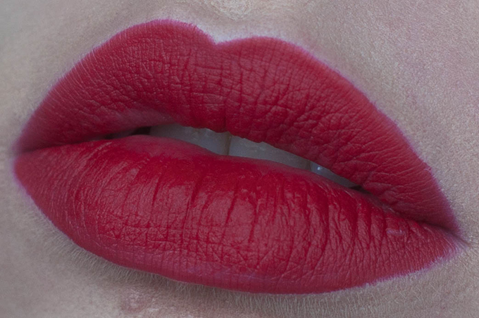 RED REIDING HOOD: Beauty blogger review MAC ruby woo lipstick swatch on the lips ultimate best red lipstick