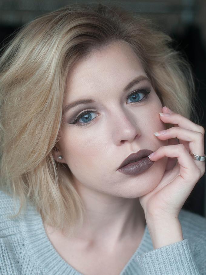 RED REIDING HOOD: Beauty blogger review MAC stone lip pencil viva glam rihanna 2 lip stick swatch full face look make up