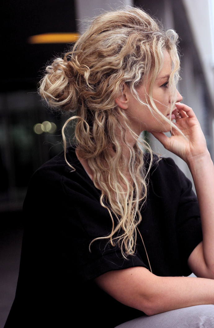 RED REIDING HOOD: Half up top knot viking hair style hairdo inspiration anouk yve fashion blogger