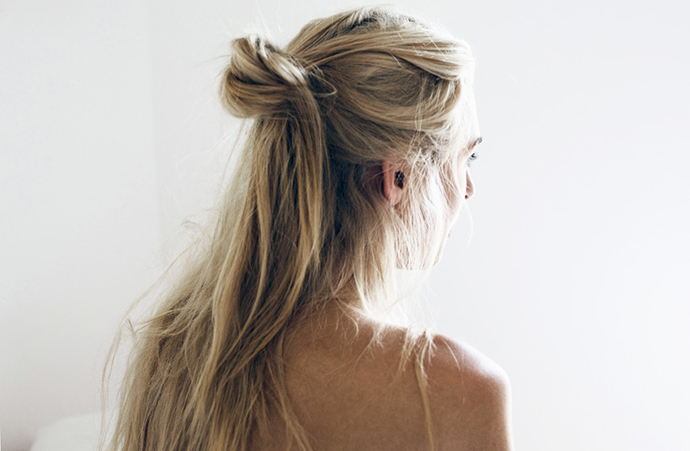 RED REIDING HOOD: Half up top knot viking hair style hairdo inspiration orcale fox