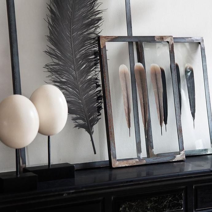 RED REIDING HOOD: Interior blogger home inspiration framed feathers DIY