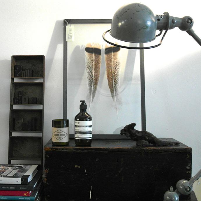 RED REIDING HOOD: Framed feather home idea DIY interior inspiration