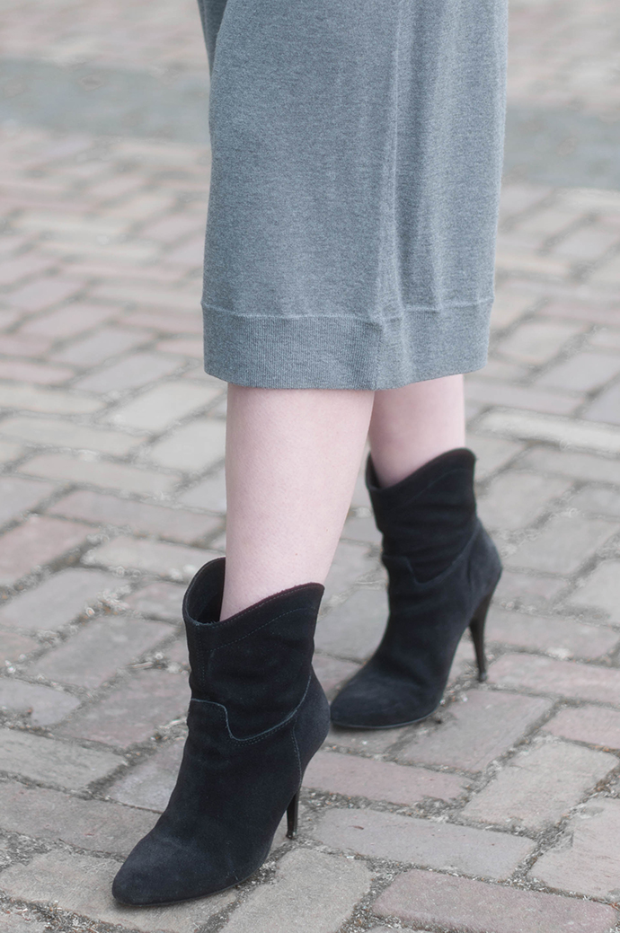 RED REIDING HOOD: Fashion blogger wearing merino wool acne studios heidi culottes mango suede ankle boots outfit details