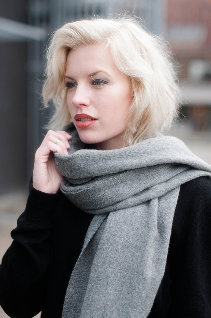 RED REIDING HOOD: Fashion blogger wearing acne canada wool scarf outfit details